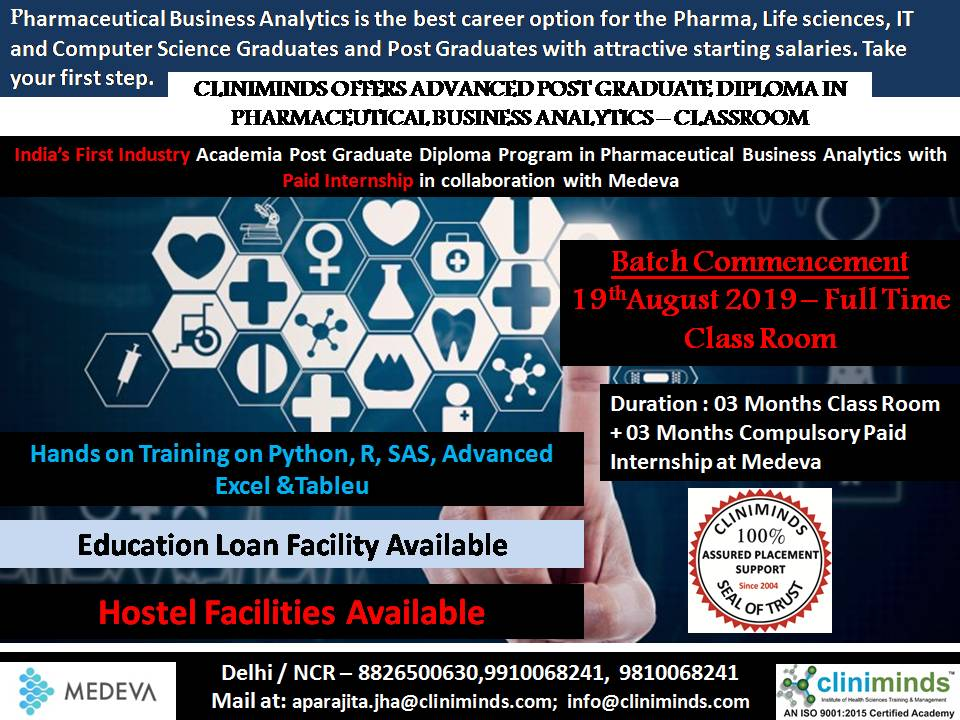 Advanced Post Graduate Diploma Pharmaceutical Business Analytics